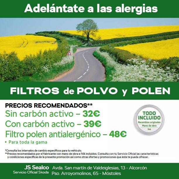 filtros polen
