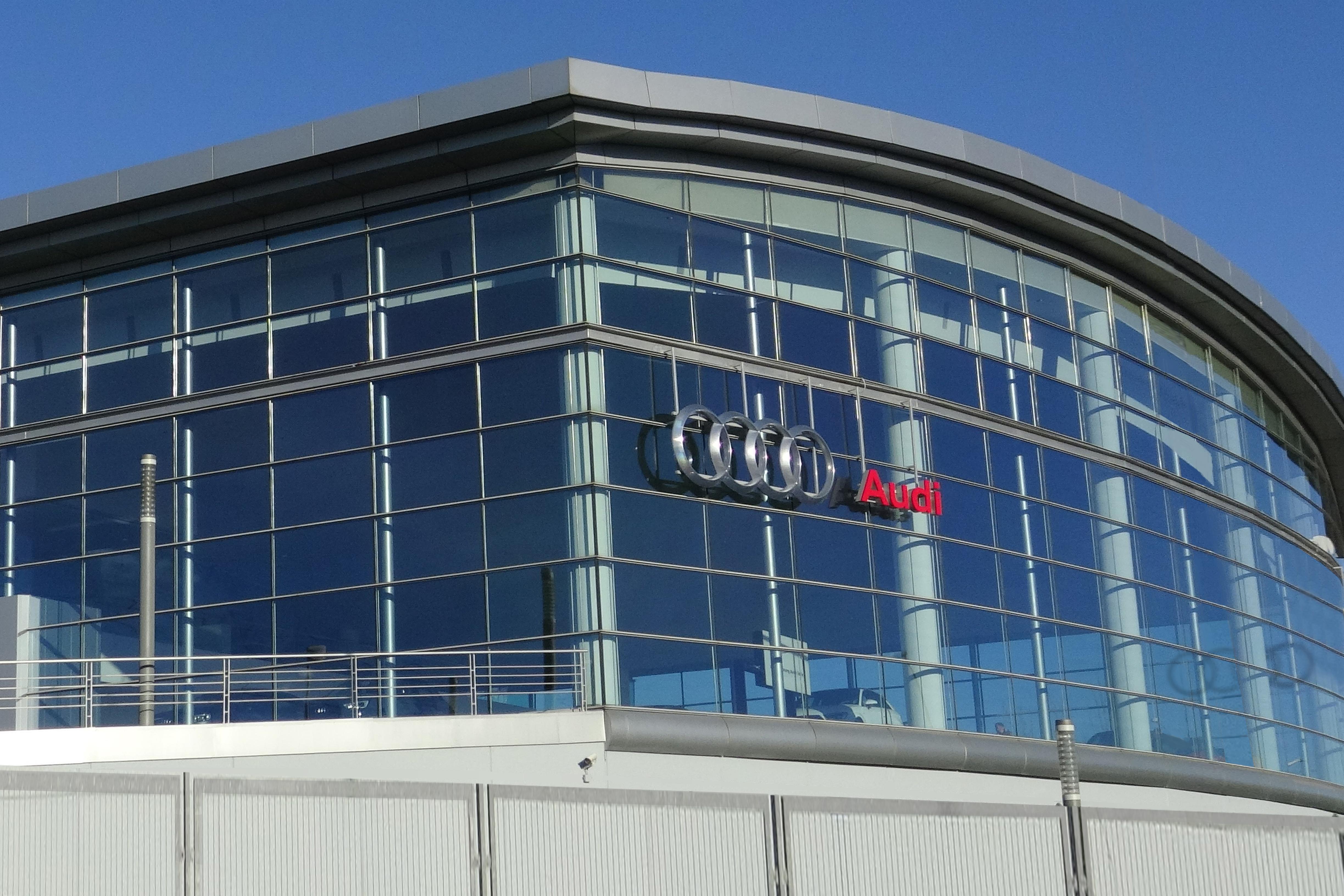 Fachada del Concesionario Audi del Grupo Sealco